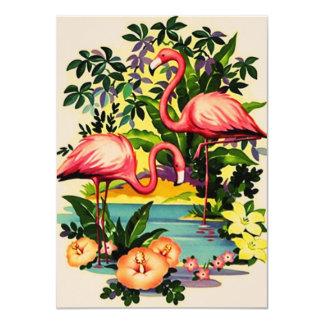 Invitaciones retras bonitas de la fiesta en la invitación 11,4 x 15,8 cm