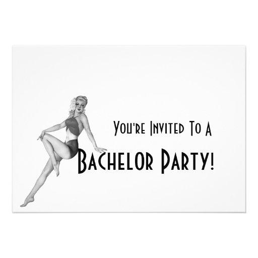 Invitaciones retras de la despedida de soltero comunicados personalizados