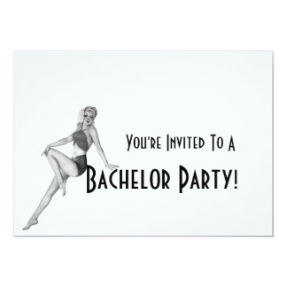 Invitaciones retras de la despedida de soltero invitación 12,7 x 17,8 cm