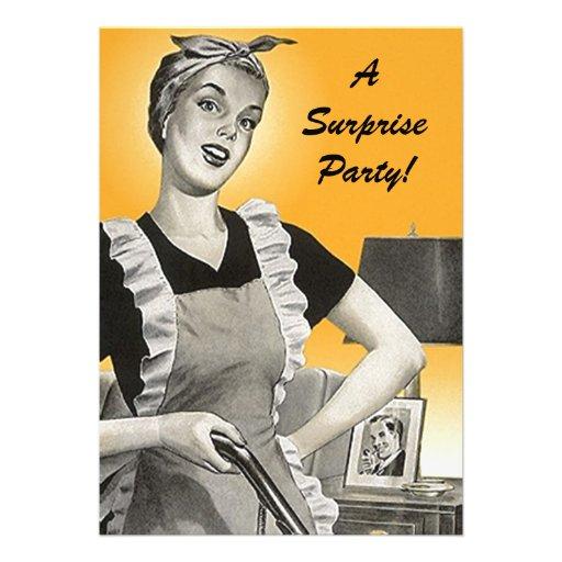 Invitaciones retras de la fiesta de cumpleaños de  comunicados personalizados