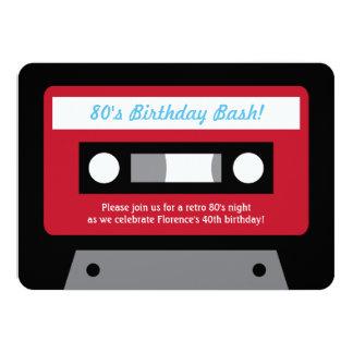 Invitaciones retras de la fiesta de cumpleaños de invitación 11,4 x 15,8 cm
