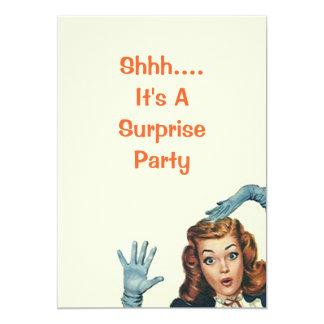 Invitaciones retras de la fiesta de cumpleaños de invitación 12,7 x 17,8 cm