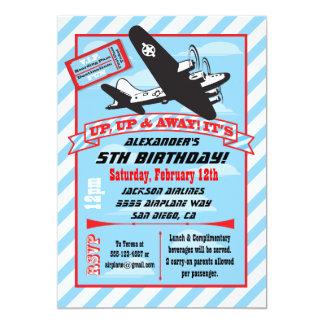 Invitaciones retras de la fiesta de cumpleaños del invitación 12,7 x 17,8 cm
