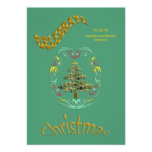 Invitaciones retras de la fiesta de Navidad de la  Comunicados