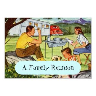 Invitaciones retras de la reunión de familia del invitación 8,9 x 12,7 cm