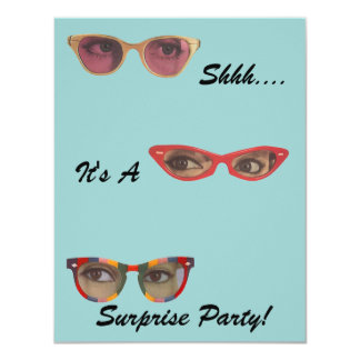 Invitaciones retras de la sorpresa del fiesta de invitación 10,8 x 13,9 cm