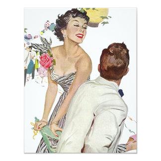 Invitaciones retras de moda del fiesta del tema invitación 10,8 x 13,9 cm