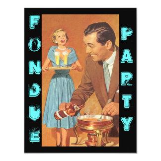 Invitaciones retras de moda del tema del fiesta de invitación 10,8 x 13,9 cm
