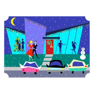Invitaciones retras del fiesta del dibujo animado invitación 12,7 x 17,8 cm