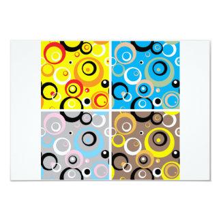 Invitaciones retras del papel pintado invitación 8,9 x 12,7 cm