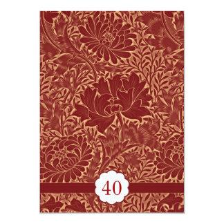 invitaciones retras elegantes rojas del invitación 12,7 x 17,8 cm