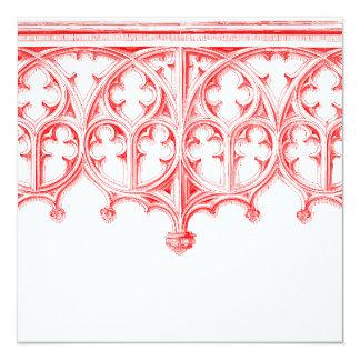 Invitaciones rojas color de rosa del boda de la invitación 13,3 cm x 13,3cm