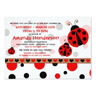 Invitaciones rojas de la fiesta de bienvenida al invitación 12,7 x 17,8 cm