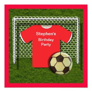 Invitaciones rojas de la fiesta de cumpleaños de