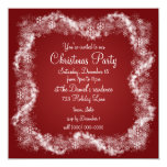 Invitaciones rojas de la fiesta de Navidad Invitación 13,3 Cm X 13,3cm