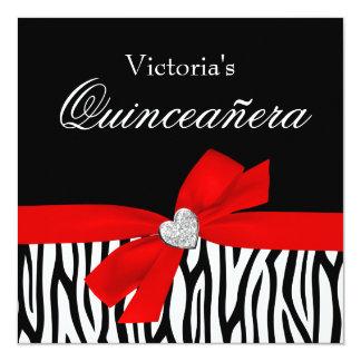 Invitaciones rojas de Quinceanera del diamante del Invitación 13,3 Cm X 13,3cm