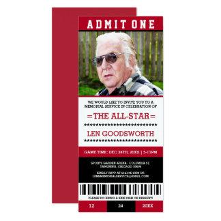Invitaciones rojas del boleto de la ceremonia