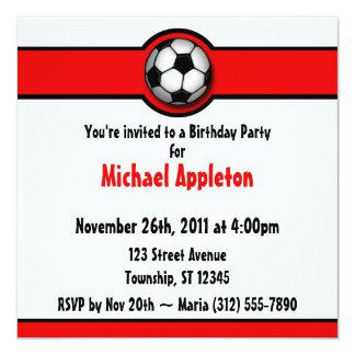 Invitaciones rojas del cumpleaños del balón de invitación 13,3 cm x 13,3cm