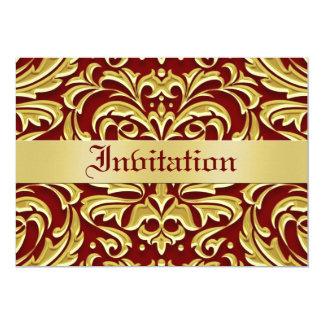 Invitaciones rojas del día de fiesta del metal del invitación 12,7 x 17,8 cm
