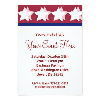 Invitaciones rojas del fiesta de la campaña de las