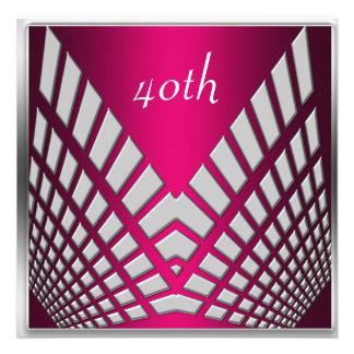 Invitaciones rosadas candentes de la fiesta de cum invitacion personalizada