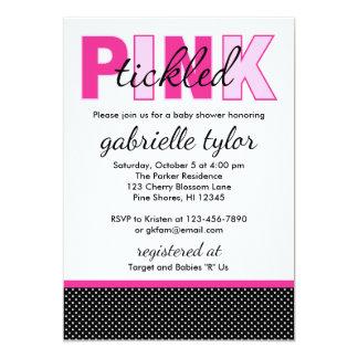 Invitaciones rosadas cosquilleadas de la fiesta de invitación 12,7 x 17,8 cm