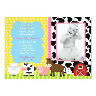 Invitaciones rosadas de la fiesta de cumpleaños invitación 12,7 x 17,8 cm