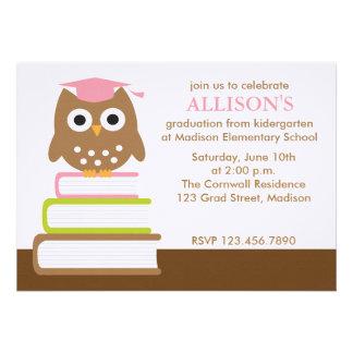 Invitaciones rosadas de la fiesta de graduación de invitacion personal