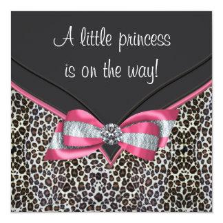 Invitaciones rosadas de la princesa fiesta de invitación 13,3 cm x 13,3cm