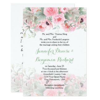 Invitaciones rosadas de las anémonas de los