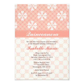 Invitaciones rosadas de Quinceanera del copo de Invitación 12,7 X 17,8 Cm