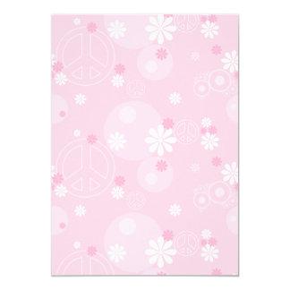invitaciones rosadas del boda del boho del signo invitación 12,7 x 17,8 cm