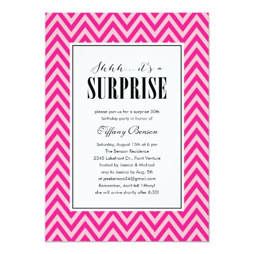Surprise Party Invitations for Women