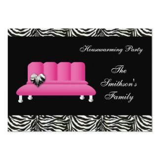 Invitaciones rosadas del fiesta del estreno de una invitación 12,7 x 17,8 cm