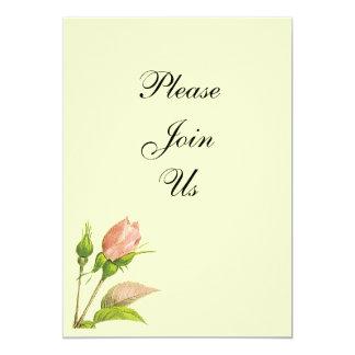 Invitaciones rosadas del personalizado del capullo invitación 12,7 x 17,8 cm