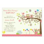 Invitaciones rosadas lindas de la fiesta de invitación personalizada