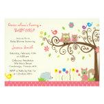 Invitaciones rosadas lindas de la fiesta de bienve invitación personalizada