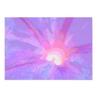 Invitaciones rosadas y púrpuras del pétalo de la