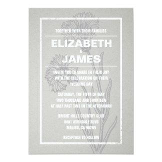 Invitaciones rústicas de la bodas de plata del invitación 12,7 x 17,8 cm