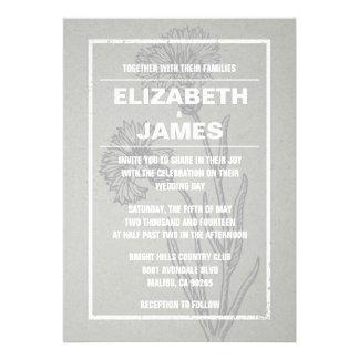 Invitaciones rústicas de la bodas de plata del vin