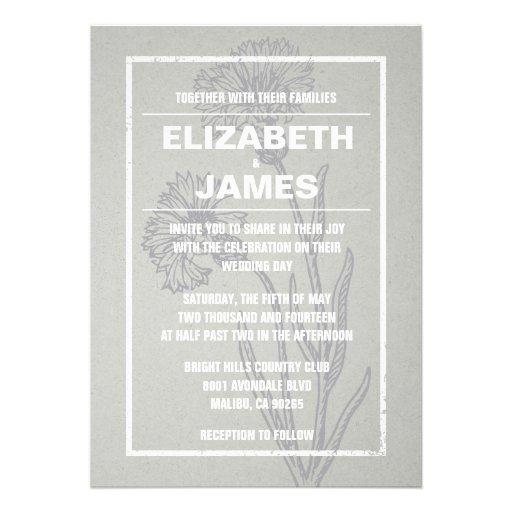 Invitaciones rústicas de la bodas de plata del vin comunicado