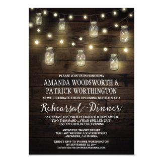Invitaciones rústicas de la cena del ensayo del