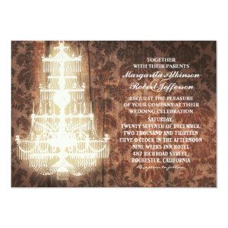 invitaciones rústicas del boda de la lámpara del invitación 12,7 x 17,8 cm