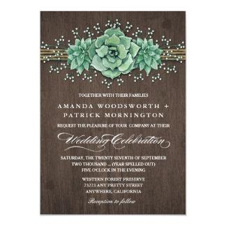 Invitaciones rústicas del boda de la respiración invitación 12,7 x 17,8 cm