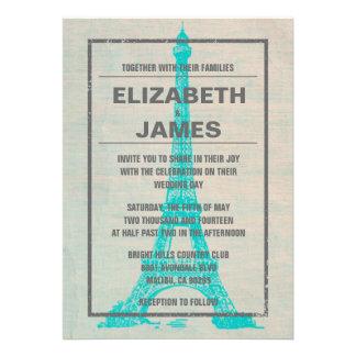 Invitaciones rústicas del boda de París