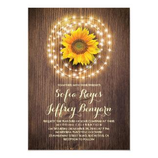 invitaciones rústicas del boda del granero del invitación 12,7 x 17,8 cm