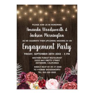 Invitaciones rústicas del fiesta de compromiso de
