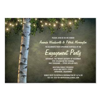 Invitaciones rústicas del fiesta de compromiso del invitación 12,7 x 17,8 cm