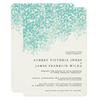 Invitaciones rústicas ligeras verde azuladas del invitación 12,7 x 17,8 cm