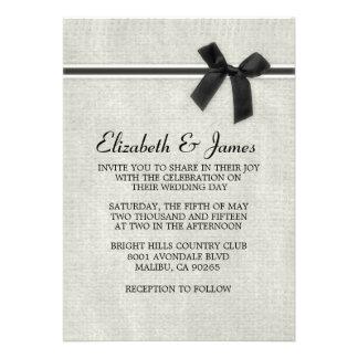Invitaciones rústicas negras y blancas del boda de